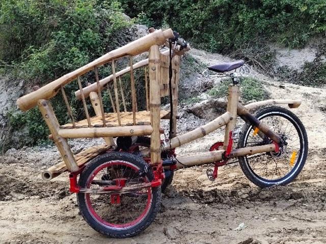 Độc đáo mẫu xe đạp điện đa năng bằng tre ở Nepal - 3