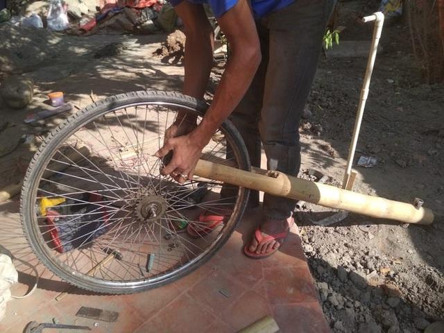 Độc đáo mẫu xe đạp điện đa năng bằng tre ở Nepal - 10