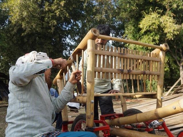 Độc đáo mẫu xe đạp điện đa năng bằng tre ở Nepal - 2