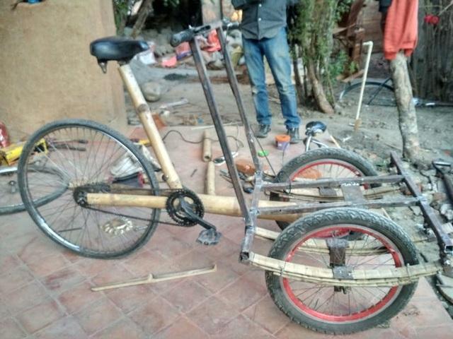 Độc đáo mẫu xe đạp điện đa năng bằng tre ở Nepal - 8