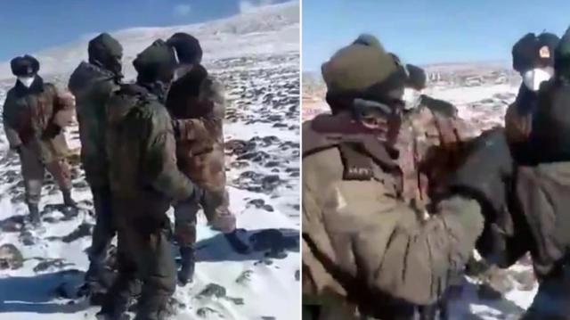 Xuất hiện video nghi binh sĩ Trung - Ấn ẩu đả giữa lúc căng thẳng - 1