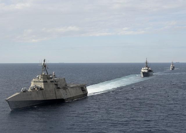 Mỹ điều tàu chiến tập trận với Nhật Bản trên Biển Đông - 4