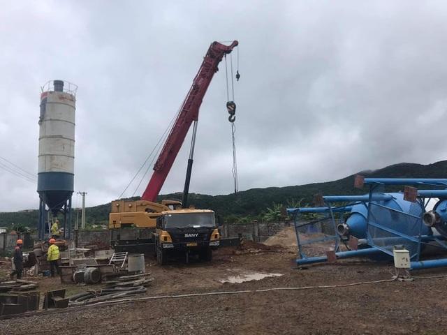 Xây dựng trạm trộn bê tông trái phép trong cụm công nghiệp - 1