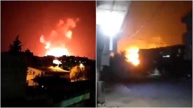 Tấn công bằng tên lửa nhằm vào hàng loạt căn cứ quân sự Syria - 1