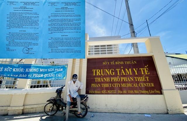 """Vụ """"rút ruột"""" 5,4 tỷ đồng: Cách chức lãnh đạo Trung tâm Y tế TP Phan Thiết - 1"""
