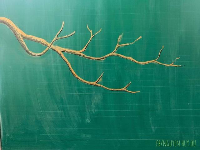 Thầy giáo vẽ hoa phượng lên bảng khiến người xem trầm trồ, ngưỡng mộ - 10