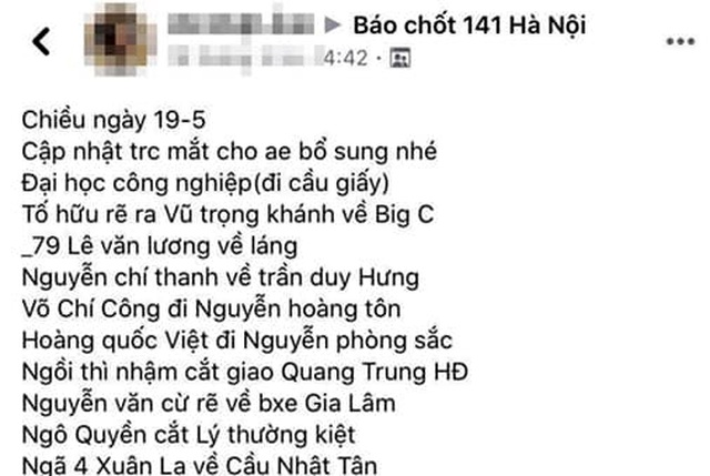 Xử lý nam thanh niên chỉ điểm chốt 141 Hà Nội trên facebook - 1