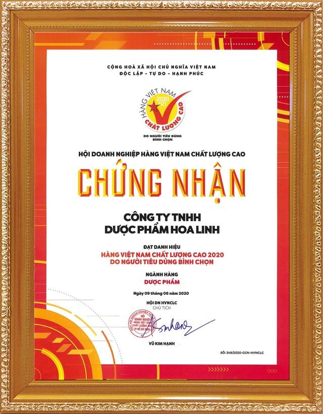 Dược Hoa Linh tiếp tục khẳng định thương hiệu hàng Việt Nam chất lượng cao - 2