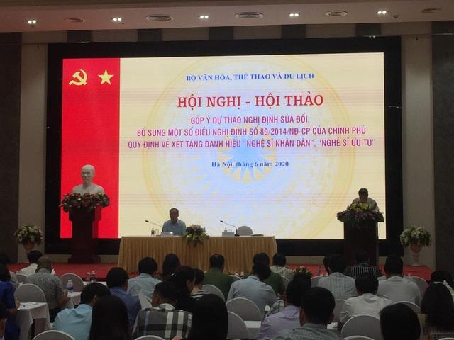 Đề xuất quy định thu hồi danh hiệu Nghệ sĩ Nhân dân, Nghệ sĩ Ưu tú - 1