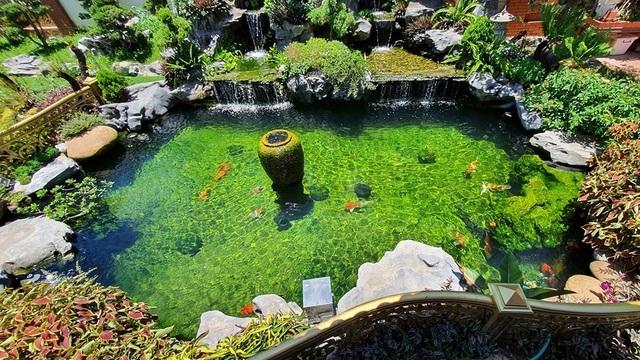 Ngắm nhà gỗ cổ Bắc Bộ với hồ cá Koi đẹp hiếm có ở ngoại thành Hà Nội - 11