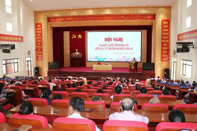 Trưởng Ban Tổ chức Trung ương tiếp xúc cử tri tại TP Uông Bí - 1