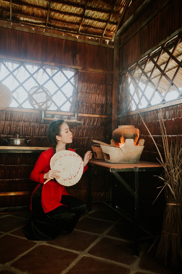 Hoa khôi Vũ Thanh Tú mộc mạc với áo bà ba nơi thôn dã - 10
