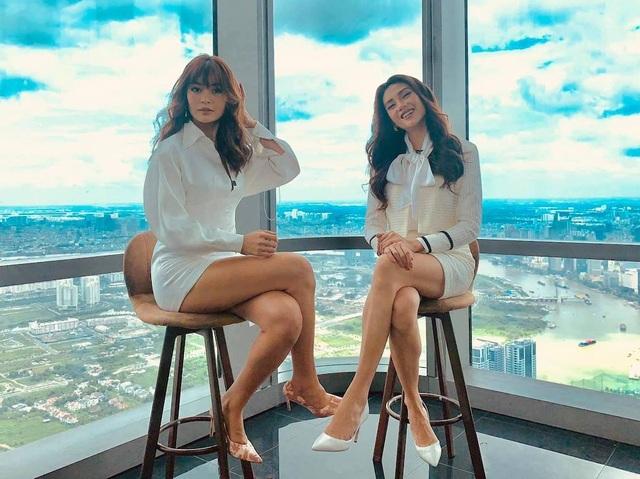 Hoa hậu Khánh Vân gây tranh cãi với mốt môi tều - 4
