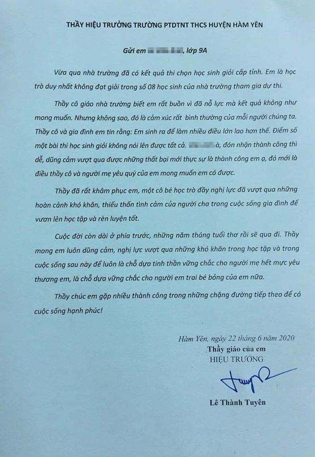 Xúc động bức thư thầy hiệu trưởng gửi học sinh không đoạt giải cấp tỉnh - 1