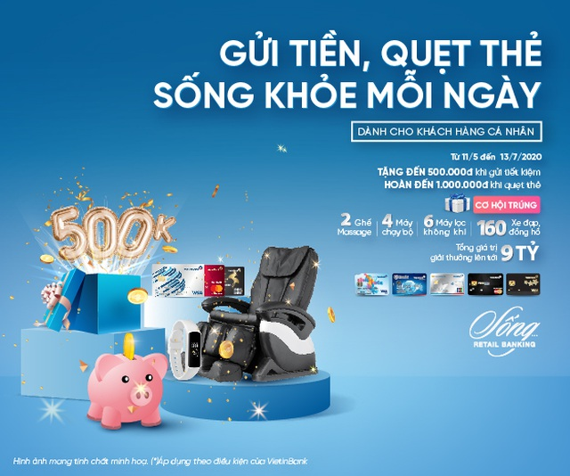 Gửi tiền, quẹt thẻ cùng VietinBank, trúng quà tặng sức khỏe hấp dẫn - 1