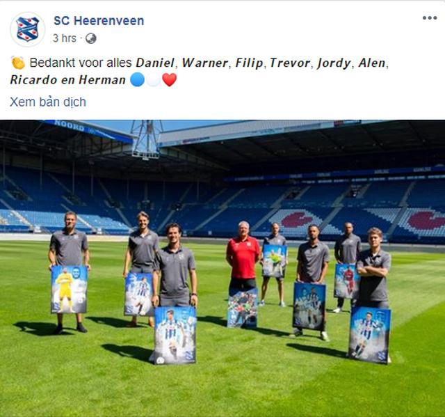 Heerenveen chia tay nhiều cầu thủ, không có tên Văn Hậu - 1