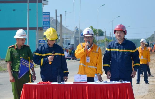 KĐN tổ chức thành công diễn tập PCCC trên hành lang tuyến ống dẫn khí Bạch Hổ - 1