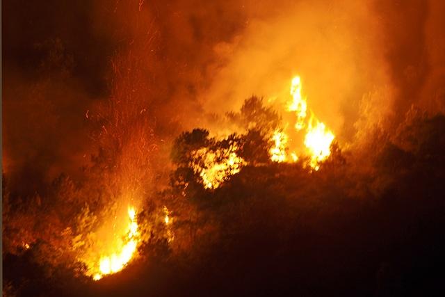 Cận cảnh biển lửa đỏ rực trong đám cháy rừng kinh hoàng ở Nghệ An, Hà Tĩnh - 4