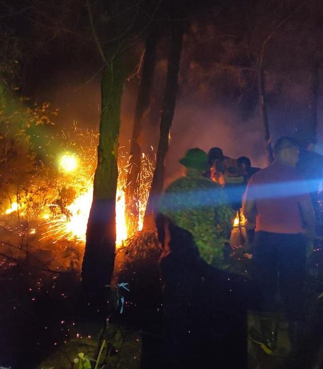 Cận cảnh biển lửa đỏ rực trong đám cháy rừng kinh hoàng ở Nghệ An, Hà Tĩnh - 11