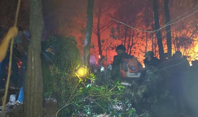 Cận cảnh biển lửa đỏ rực trong đám cháy rừng kinh hoàng ở Nghệ An, Hà Tĩnh - 9