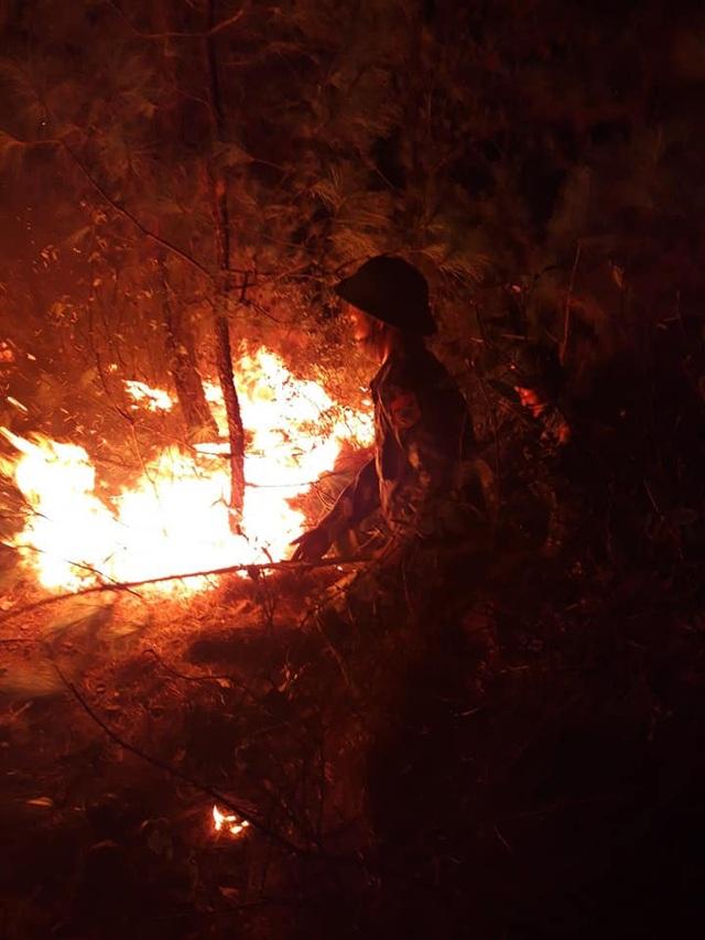 Cận cảnh biển lửa đỏ rực trong đám cháy rừng kinh hoàng ở Nghệ An, Hà Tĩnh - 12