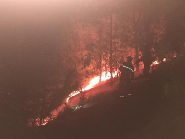 Cận cảnh biển lửa đỏ rực trong đám cháy rừng kinh hoàng ở Nghệ An, Hà Tĩnh - 16
