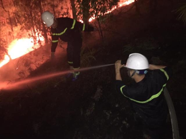 Cận cảnh biển lửa đỏ rực trong đám cháy rừng kinh hoàng ở Nghệ An, Hà Tĩnh - 15