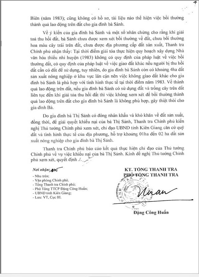 Cụ bà ròng rã đi đòi đất kiến nghị hỗ trợ, Chủ tịch Kiên Giang bác yêu cầu - 5
