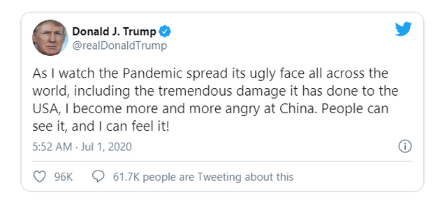 Ông Trump ngày càng tức giận với Trung Quốc vì Covid-19 - 2