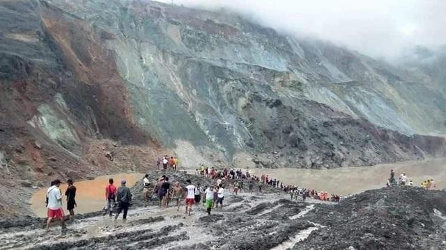 Lở đất như sóng thần chôn vùi mỏ ngọc bích Myanmar, hơn 110 người chết - 3