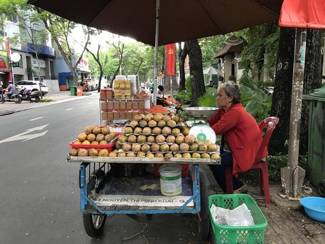 Dậy từ 4h sáng, bà cụ 64 tuổi bán cóc dạo bỏ túi 30-40 triệu đồng/tháng - 1