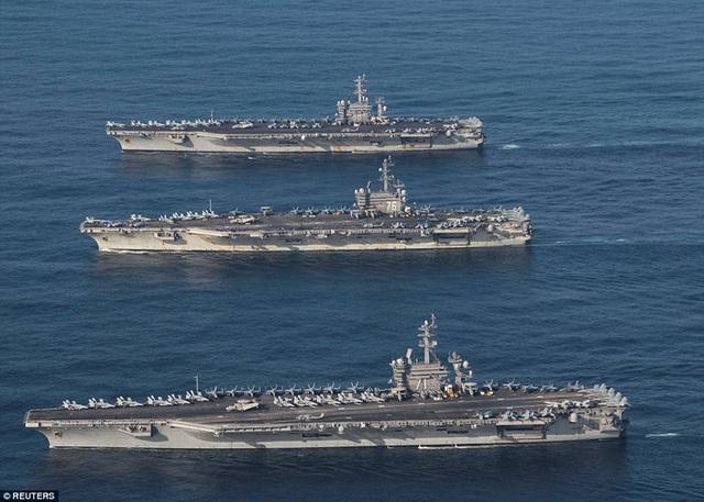 Mỹ sẽ điều hai tàu sân bay tới Biển Đông diễn tập - 1