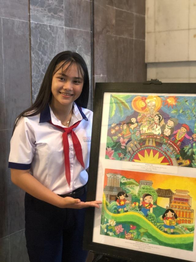 Nữ sinh lớp 7 Bến Tre giành 3 giải lớn ở cuộc thi thu hút học sinh cả nước - 2