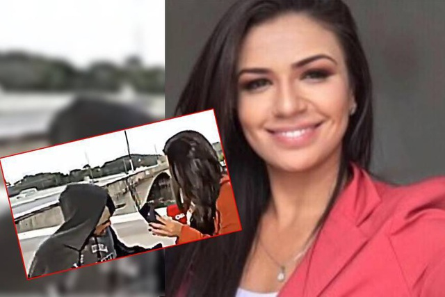 Nữ phóng viên xinh đẹp bị cướp dùng dao uy hiếp khi đang quay trực tiếp - 1