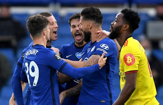 Đè bẹp Watford, Chelsea giành lại vị trí thứ 4 từ Man Utd