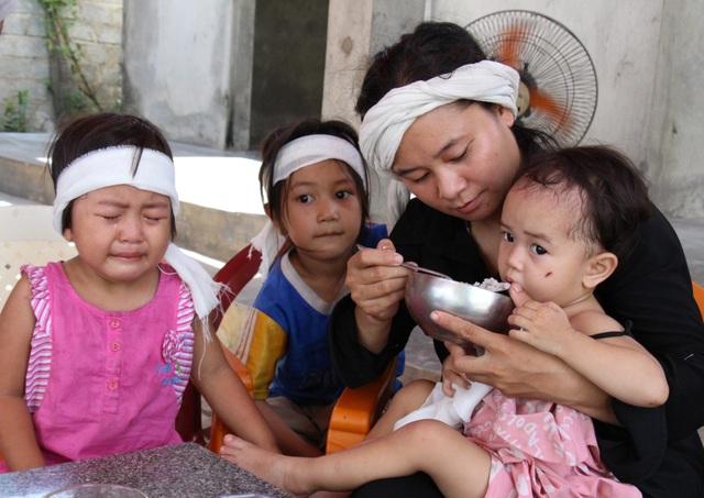 Xót xa cảnh 3 đứa trẻ đột ngột mất cha - 3