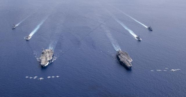 Trung Quốc theo dõi hai tàu sân bay Mỹ tập trận tại Biển Đông - 2