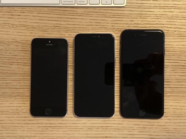 """Chùm ảnh iPhone 12 """"đọ dáng"""" cùng iPhone SE và iPhone 7"""
