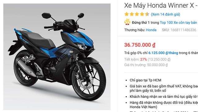 Honda Winner X ế ẩm, bán thấp hơn đề xuất 10 triệu đồng - 1