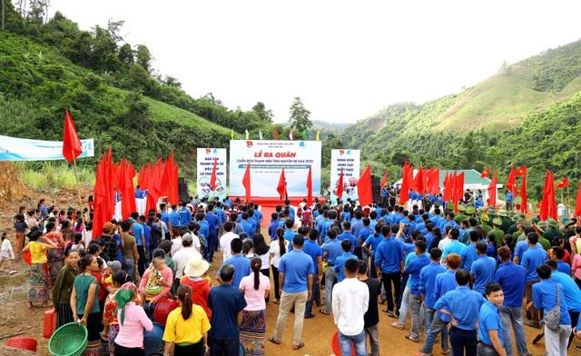 Tỉnh đoàn Nghệ An ra quân tình nguyện ở biên giới Việt - Lào - 3