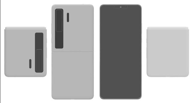 Huawei hé lộ ý tưởng smartphone màn hình gập vỏ sò giống Galaxy Z Flip - 2