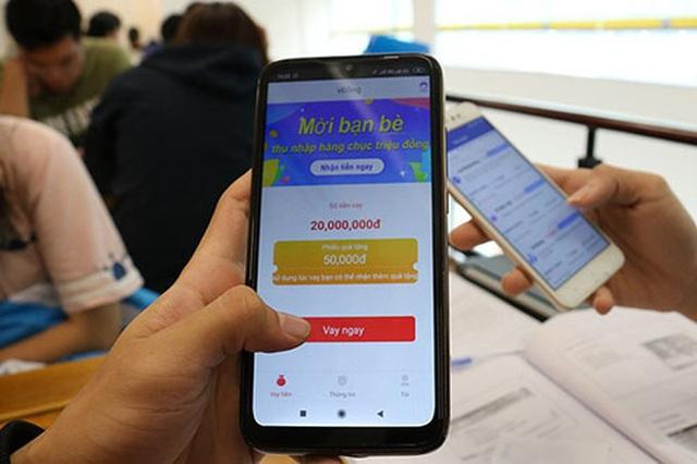 App cho vay tiền với lãi suất cắt cổ... 1.000% - 1