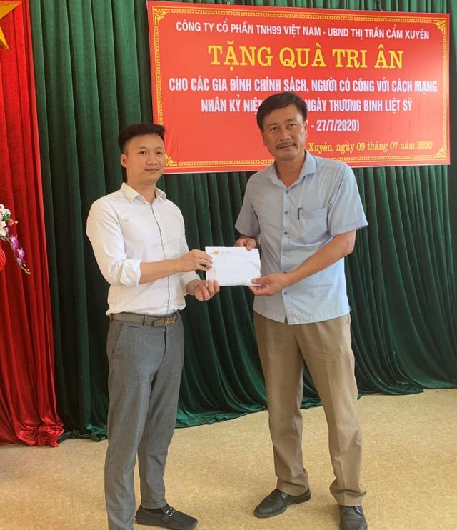 Công ty Cổ phần TNH99 Việt Nam tri ân các gia đình chính sách nhân ngày 27/7 - 3