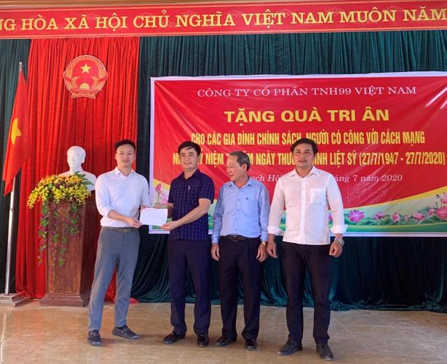 Công ty Cổ phần TNH99 Việt Nam tri ân các gia đình chính sách nhân ngày 27/7 - 4