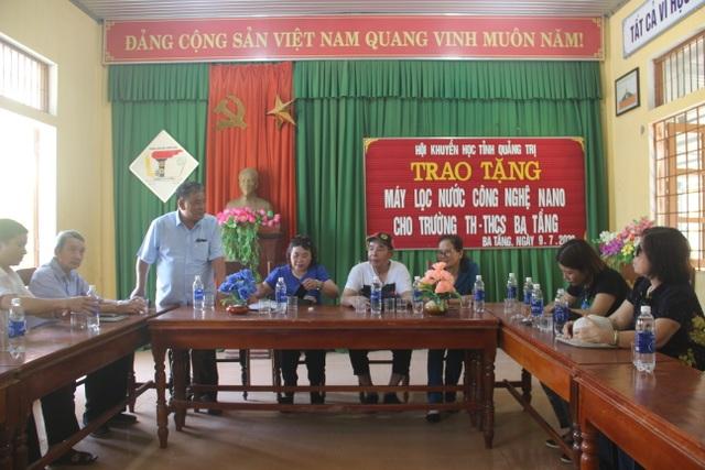 Quảng Trị: Tặng thiết bị lọc nước cho trường học vùng miền núi, biên giới - 3