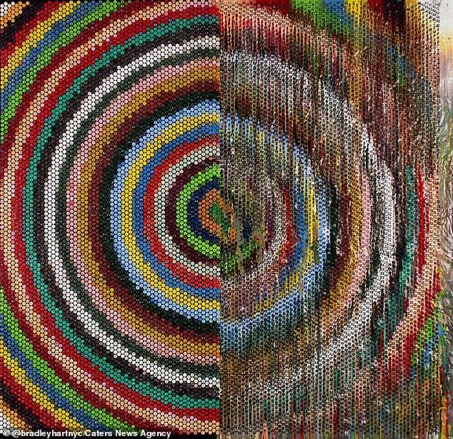 Tiêm màu vào màng xốp bong bóng để tạo thành… nghệ thuật - Ảnh minh hoạ 3