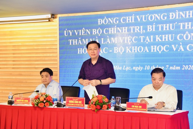 """Bí thư Hà Nội tháo gỡ khó khăn và """"hiến kế"""" phát triển Khu CNC Hòa Lạc - 1"""