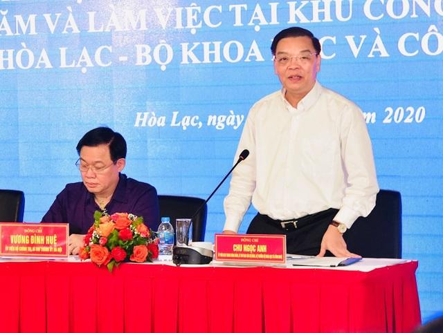 """Bí thư Hà Nội tháo gỡ khó khăn và """"hiến kế"""" phát triển Khu CNC Hòa Lạc - 2"""