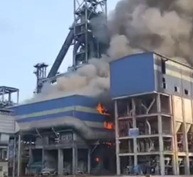 Gang lỏng chảy tràn gây cháy tại dự án 2,7 tỷ USD - 1