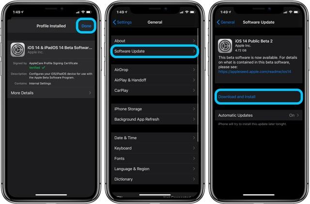 Hướng dẫn nâng cấp iPhone, iPad lên nền tảng iOS 14 và iPadOS 14 beta - Ảnh minh hoạ 5